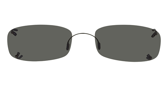 Hilco Rimless Low Rectangle Sunglasses