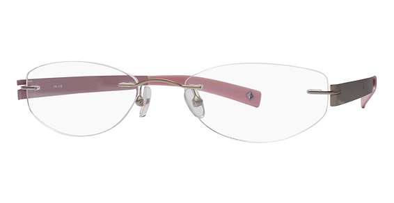 Totally Rimless TR 139 Black & Cherry