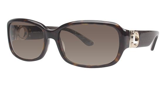 Salvatore Ferragamo SF608S (216) Striped Brown