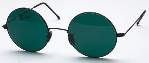 Revue Retro 817 Matte Black with Dark Teal Lenses