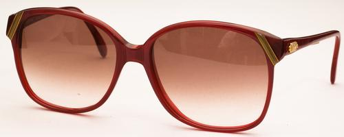 Revue Retro S100 Red with Brown Gradient Lenses c21