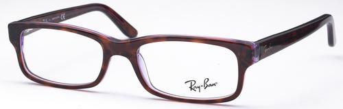 Ray Ban Glasses RX5187 Violet Transparent Brown c5165