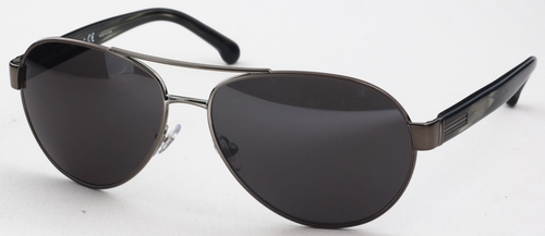 Brooks Brothers BB4011 Gunmetal with Silver Mirror Lenses