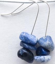 Casa Crystals & Jewelry Earings, Nugget Blue Sodalite