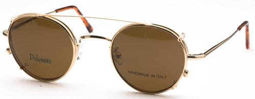 Dolomiti Eyewear PC2 Sunclip Shiny Gold with Brown Polarized Lenses