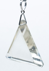 Casa Crystals & Jewelry Pendant, Triangle Clear