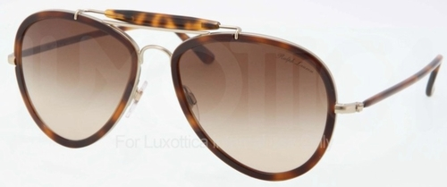 Ralph Lauren RL7038W Matte Pale Gold/Havana with Brown Gradient Lenses