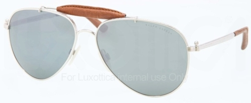 Ralph Lauren RL7045KQ Gold Plate Palladium with Green Lenses