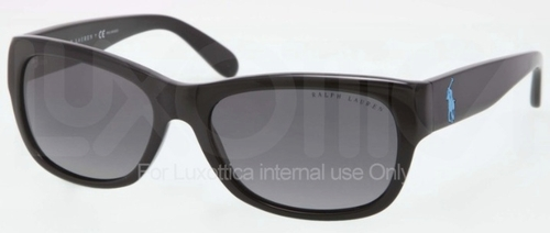 Ralph Lauren RL8106 Black with Polarized Grey Gradient Lenses