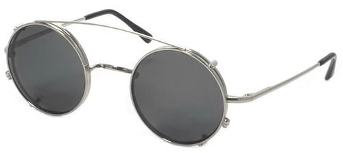 Dolomiti Eyewear Round Sunclip Shiny Gold with Brown Polarized Lenses