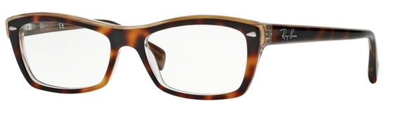 Ray Ban Glasses RX5255 Top Black on Transparent