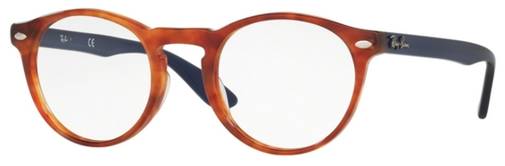 Ray Ban Glasses RX5283 Striped Brown