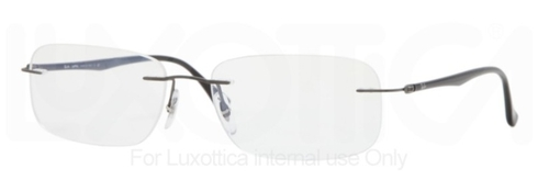 Ray Ban Glasses RX8704 Sandblasted Gunmetal