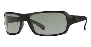 Ray Ban RB4075 Black with Crystal Green Polarized Lenses