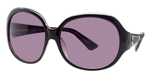 Michael Kors M2653S Black Crystal w/Smoke Fade Lenses