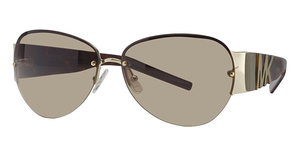 Michael Kors M2421S Shiny Gold w/Smoke Brown Lenses