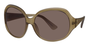 Michael Kors M2653S Nude Crystal w/Smoke Brown Fade Lenses