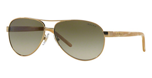 Ralph RA4004 Gold/Cream with Brown Gradient Lenses
