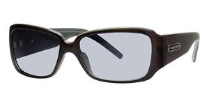 Michael Kors M2649S Black Teal w/teal Fade Lenses