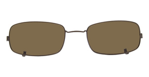 Nautica N7117 Clip Satin Brown
