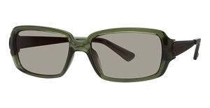Michael Kors M2425S Olive Crystal w/Smoke Olive Lenses