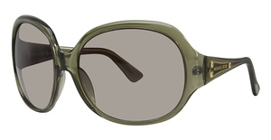 Michael Kors M2653S Olive Crystal w/Smoke Brown Fade Lenses