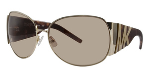 Michael Kors M2433S Shiny Gold w/Smoke Brown Lenses