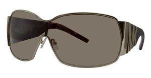 Michael Kors M2434S Shiny Gold w/Smoke Brown Lenses