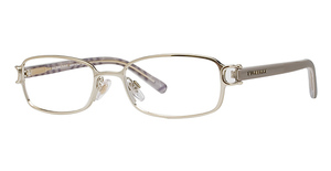 Burberry BE1015 Burberry Gold W/Taupe & Brown Check Temples