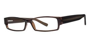Modern Optical Roxbury Brown/Orange