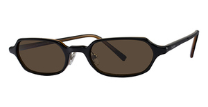Calvin Klein CK653S Black Layered/Horn