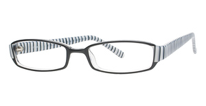 Smilen Eyewear A-List 45 Black/Zebra Stripe