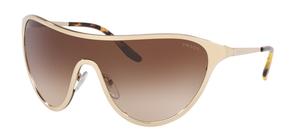 Prada 0PR 72VS Catwalk Pale Gold with Brown Gradient Lenses