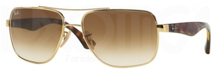 Ray Ban 0RB3483 Arista Gold with Crystal Brown Gradient Lenses