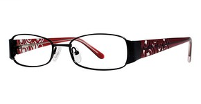 Modern Optical Runway Matte Black/Burgundy