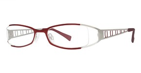 Modern Optical Viviana Matte Burgundy/Silver