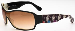 Elvis Too Much Black/Cream with Brown Gradient Lenses