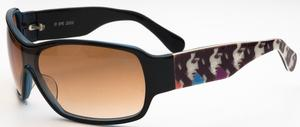 Elvis Too Much Black/Blue with Brown Gradient Lenses