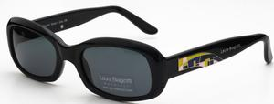 Laura Biagiotti 85091 Shiny Black with Grey Lenses
