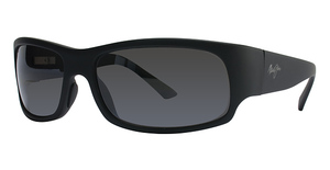 Maui Jim Longboard 222 Matte Black Rubber