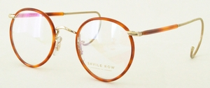 Savile Row Beaufort Panto 18Kt, Cable Temples Shiny Satin Gold/Blonde
