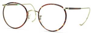 Savile Row Beaufort Panto 18Kt, Cable Temples Shiny Satin Gold/Dark Chestnut