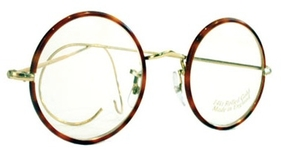 Savile Row Round 18Kt, Cable Temples Shiny Satin Gold/Dark Chestnut