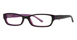Candies C FLORAL Black Over Purple