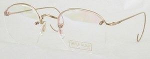 Savile Row Rimway 18Kt, Cable Temples Shiny Satin Gold