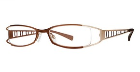 Modern Optical Viviana Matte Brown/Gold