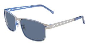 Lacoste L107S SATIN SILVER/SATIN BLUE