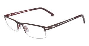 Lacoste L2113 SATIN BROWN/SHINY RED