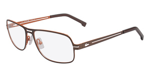 Lacoste L2109 SATIN BROWN/SATIN ORANGE