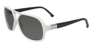 Lacoste L502S WHITE AND BLACK